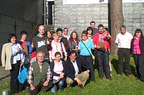 Parte de los/as asistentes al taller de innovación en Cangas
