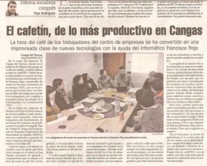 CafeTIC en el Centro de Empresas Obanca